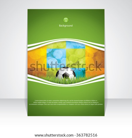 Soccer brochure.Vector - stock vector