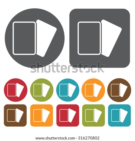 Soccer cards icons set. Vector Illustration eps10.  - stock vector