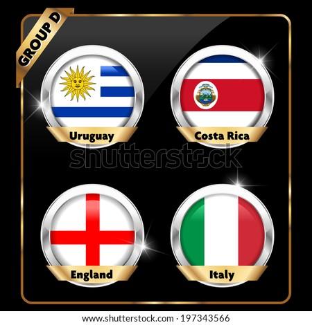 soccer championship, football group A - vector eps10 - stock vector