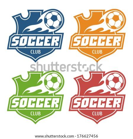 Soccer club emblem - stock vector