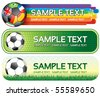 Soccer colorful banners for your design - stock photo