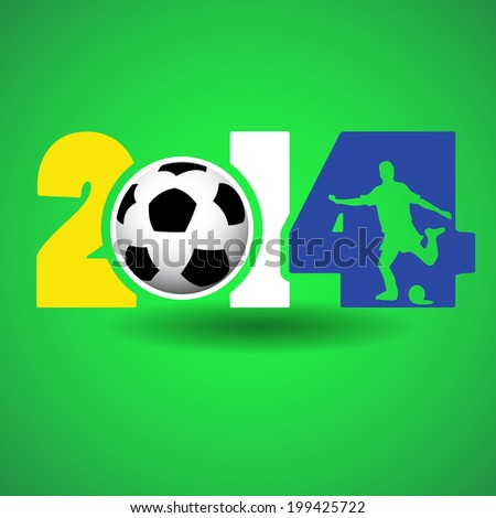 Soccer concept for 2014 - stock vector