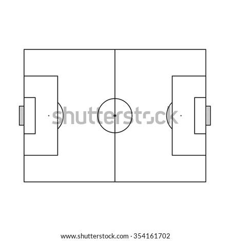 Soccer Court - stock vector