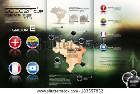 Soccer cup group E - stock vector