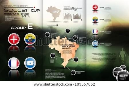 Soccer cup group E - stock vector