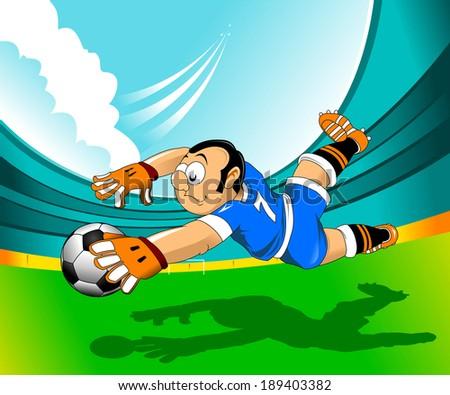 soccer design element, green background, vector-illustration - stock vector