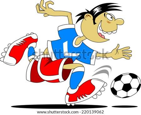 soccer design element, white background, vector-illustration - stock vector