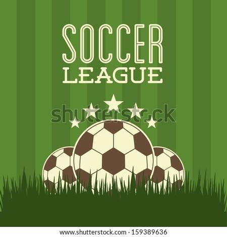 soccer design over green  background  vector illustration - stock vector