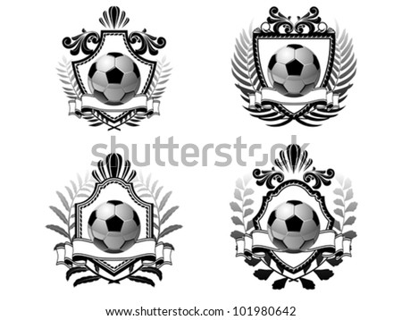 Soccer emblem - stock vector