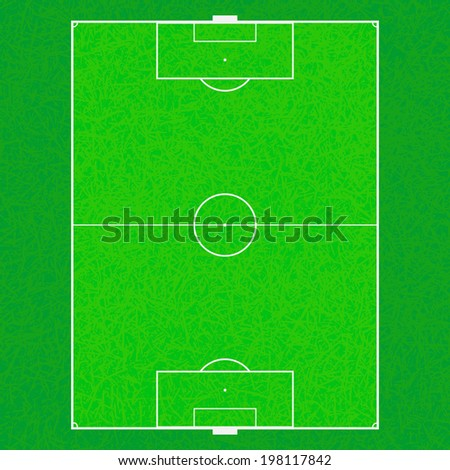 soccer field background, Vector graphic - stock vector