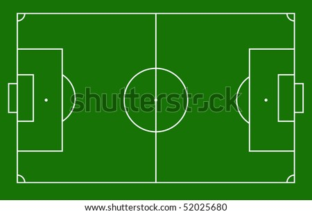 Soccer field for football matches
