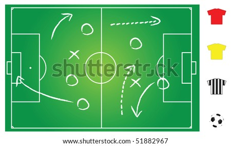 soccer field illustration for game play explanation