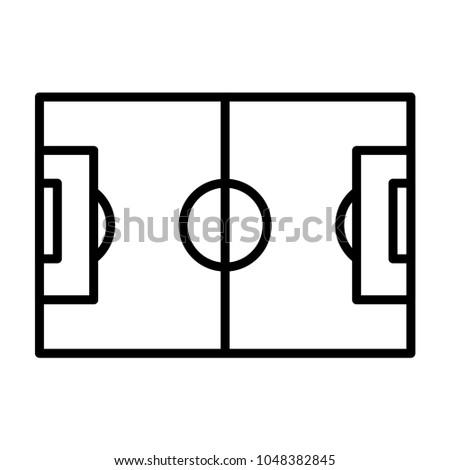 Soccer Field Line Art Vector Template Stock Vector HD (Royalty Free ...