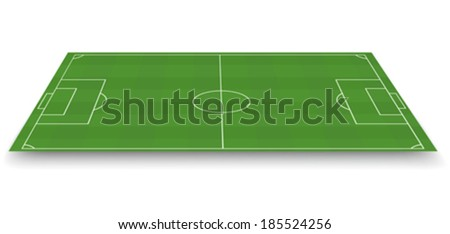 Soccer field, side view - stock vector