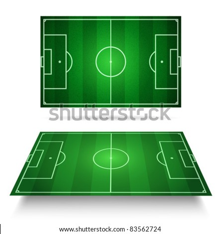 Soccer field - vector - stock vector