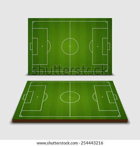 Soccer field - Vector illustration - stock vector