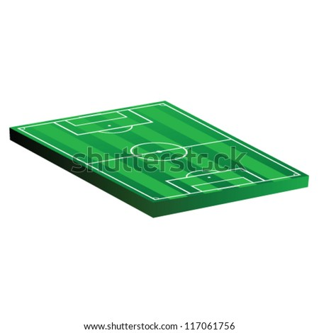 soccer field vector illustration on a white background