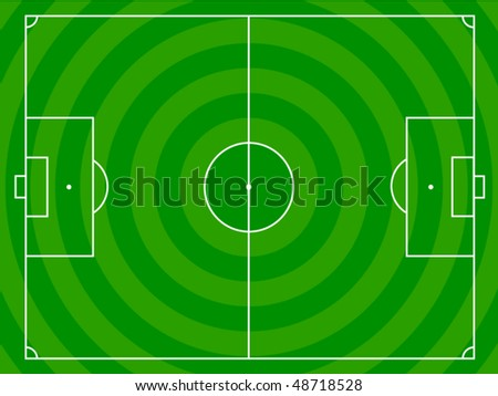 Soccer field with white lines - stock vector