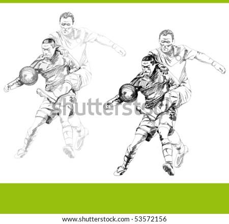 Soccer fight vector. - stock vector