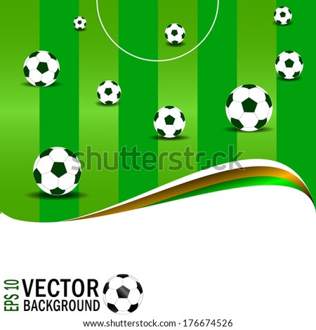 soccer, football background - stock vector