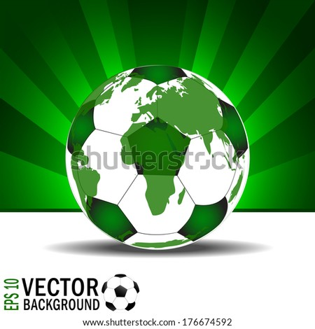 soccer, football background with earth pattern - stock vector