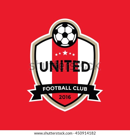 Soccer Football Badge Logo, Vector