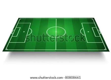 Soccer/Football Field vector 3D - stock vector