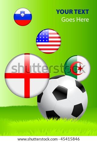 Soccer/Football 2010 Group C  Original Vector Illustration AI8 Compatible - stock vector