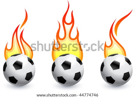 Soccer (football) on fire Original Vector Illustration AI8 Compatible