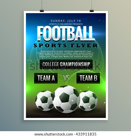Soccer Football Poster Flyer Template
