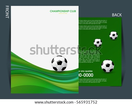 Soccer Football Tournament Championship Game Flyer Stock Vector