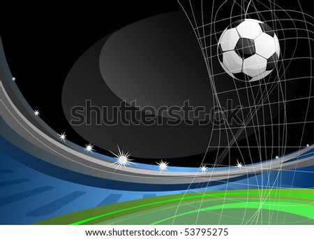 soccer game, background with space for text - stock vector