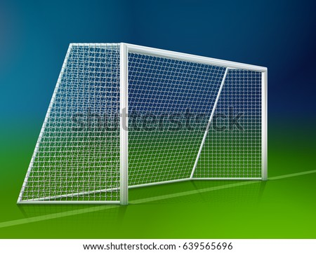 how to draw a soccer goal from the side