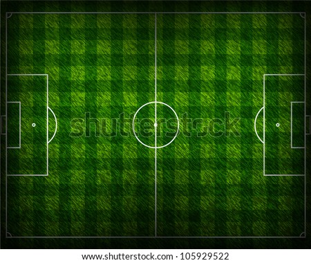 Soccer Grass Background in Shadow Vector