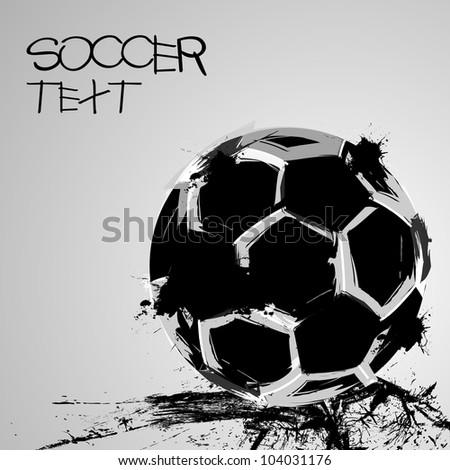 Soccer grunge ball - stock vector