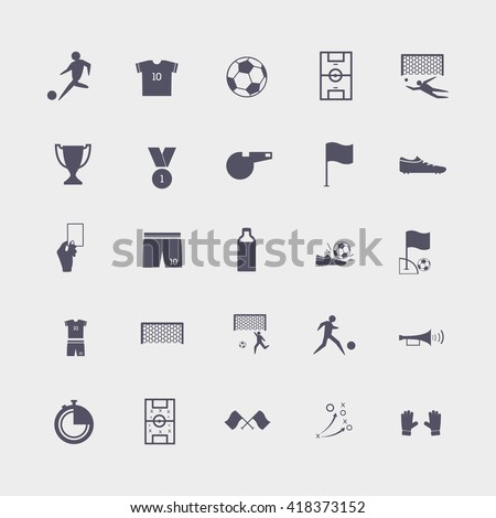 soccer icons. sport icons - stock vector