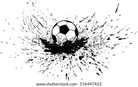 Soccer in Splatter - stock vector