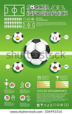 soccer info graphic vector - stock vector