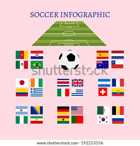 soccer infographic - stock vector