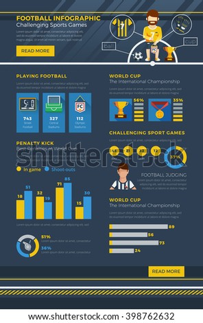 Infographic Ideas infographic soccer : Soccer Infographic Bars Graphs Charts Describing Stock Vector ...