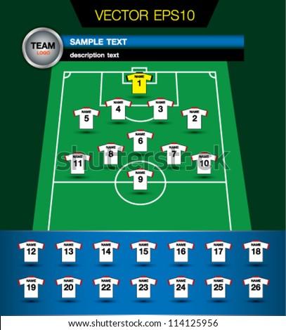 Soccer information team - stock vector
