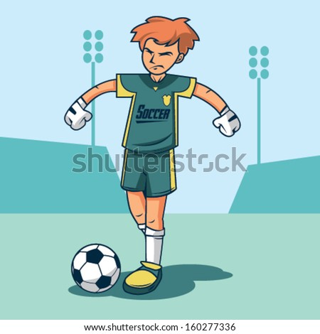 Soccer Keeper Vector Illustration - stock vector