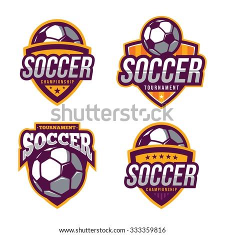 Soccer Logos, American Logo Sports - stock vector