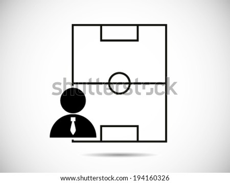 Soccer Manager - stock vector