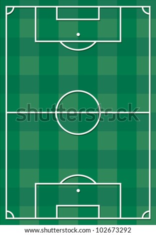 Soccer or football field - stock vector