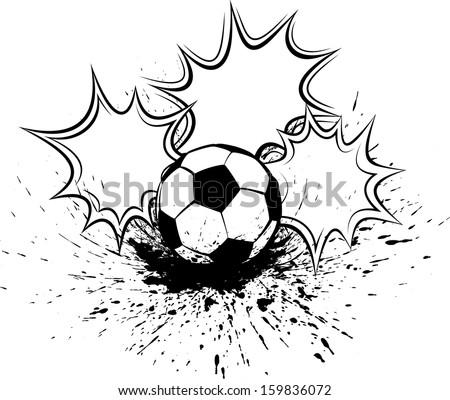 Soccer or Football Splatter Pow - stock vector