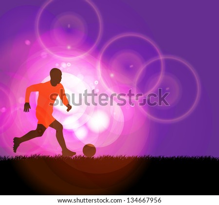 Soccer player - stock vector