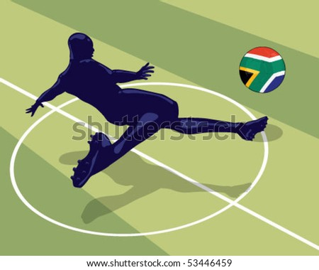 Soccer player. - stock vector