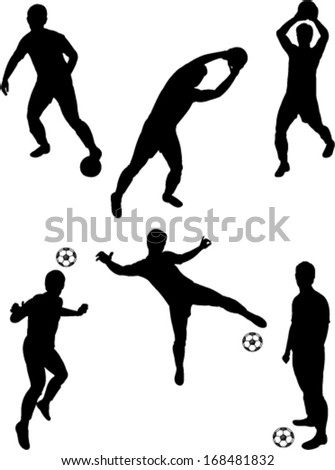 soccer player collection 2 vector