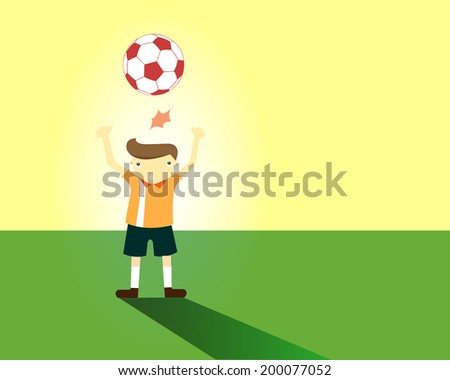 Soccer Player Head Shooting a Ball (EPS 10 file version)